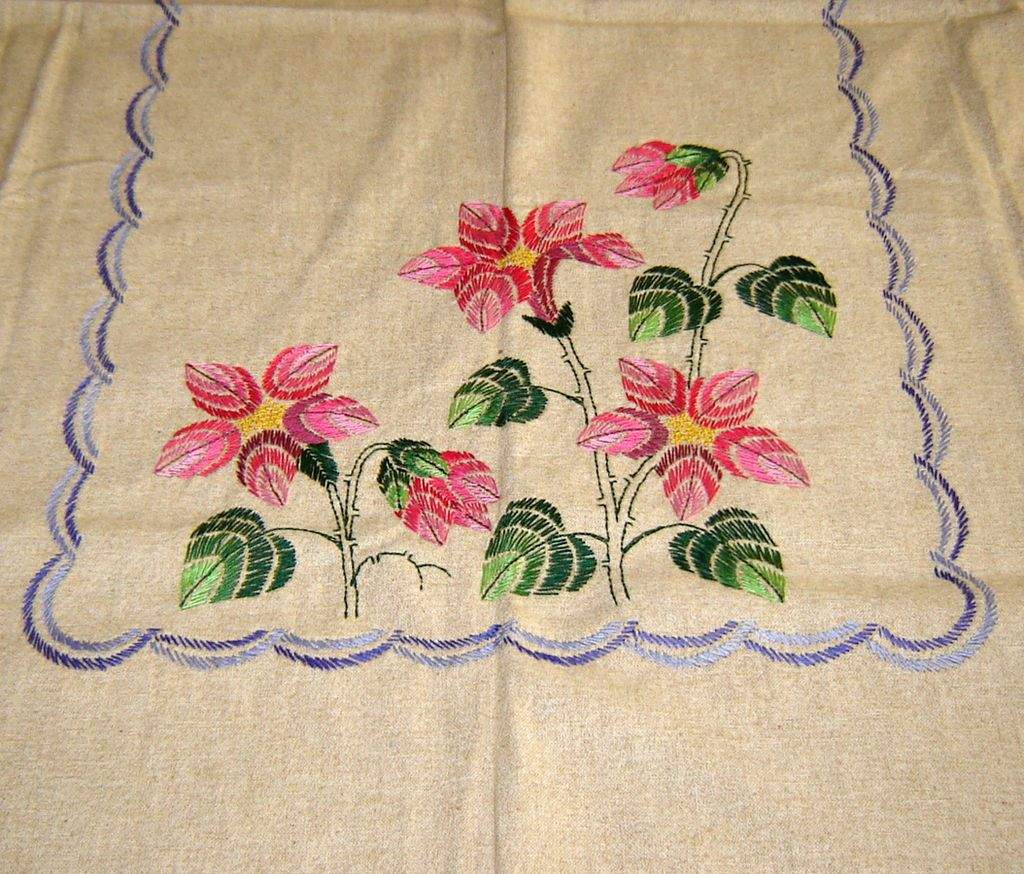 Simple hand embroidery designs for tablecloth - Simple Hand Embroidery Designs For Tablecloth 1